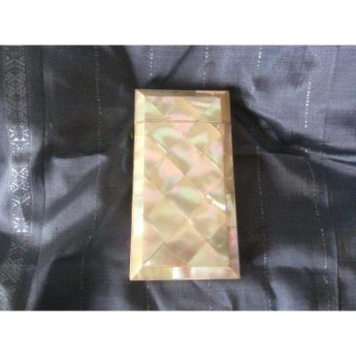 XIX Century Mother Of Pearl Cigar Case
