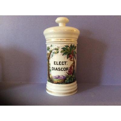 Paris 19th Century Porcelain Apothecary Jar