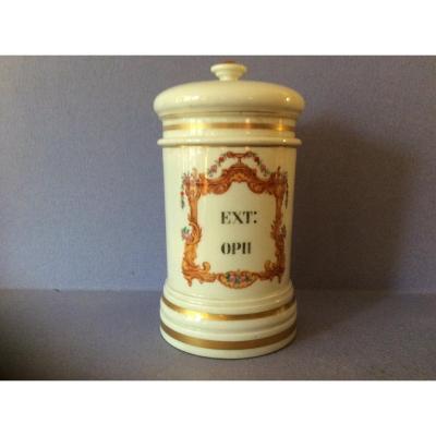 Paris XIX Porcelain Apothecary Jar