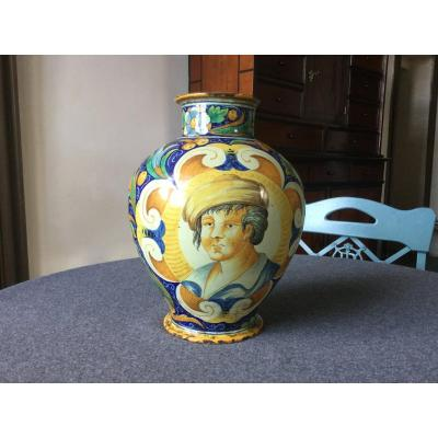 Vase D'apothicaire Majolique XIXe