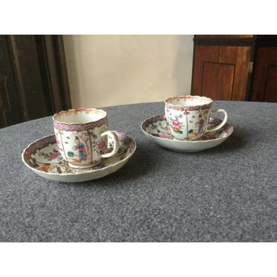 Paire De Tasses En Porcelaine De Chine XVIIIe