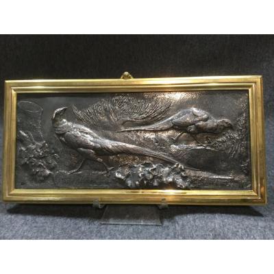 Sculpture Animalière D'auguste Cain En Argent