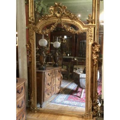 Miroir En Stuc Doré XIXe