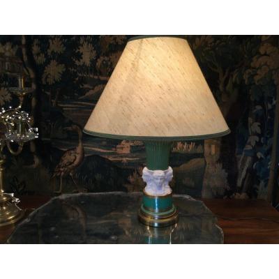 Lampe De Style Empire Porcelaine Et Biscuit
