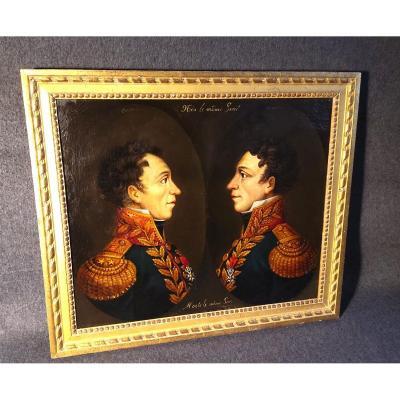 Portrait Des Frères Faucher (1760-1815) Aussi appelés