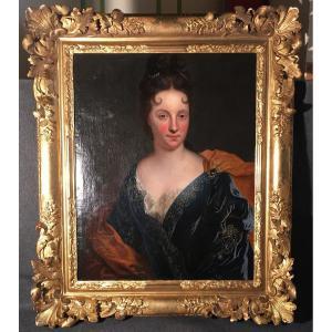 Portrait D'une Dame De Qualité école Française Fin XVII/début XVIII E