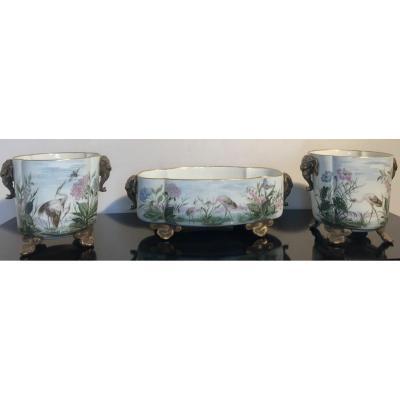 Porcelain Planter And Cache Pots