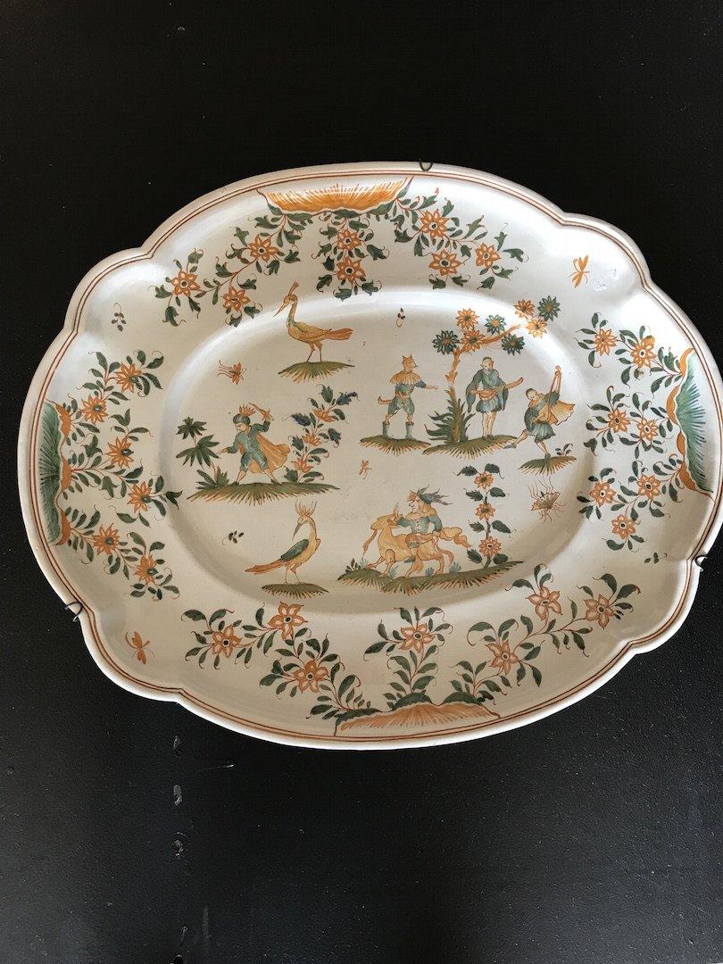 Dish Moustiers XIX Century