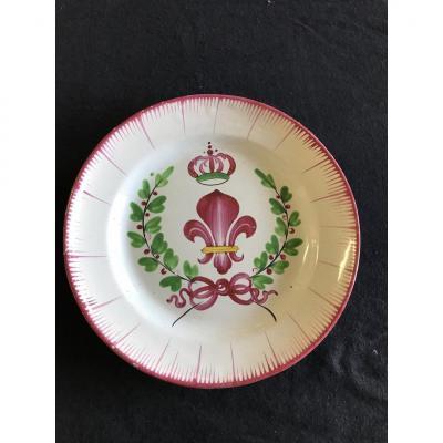 Fleur De Lys Islettes Plate
