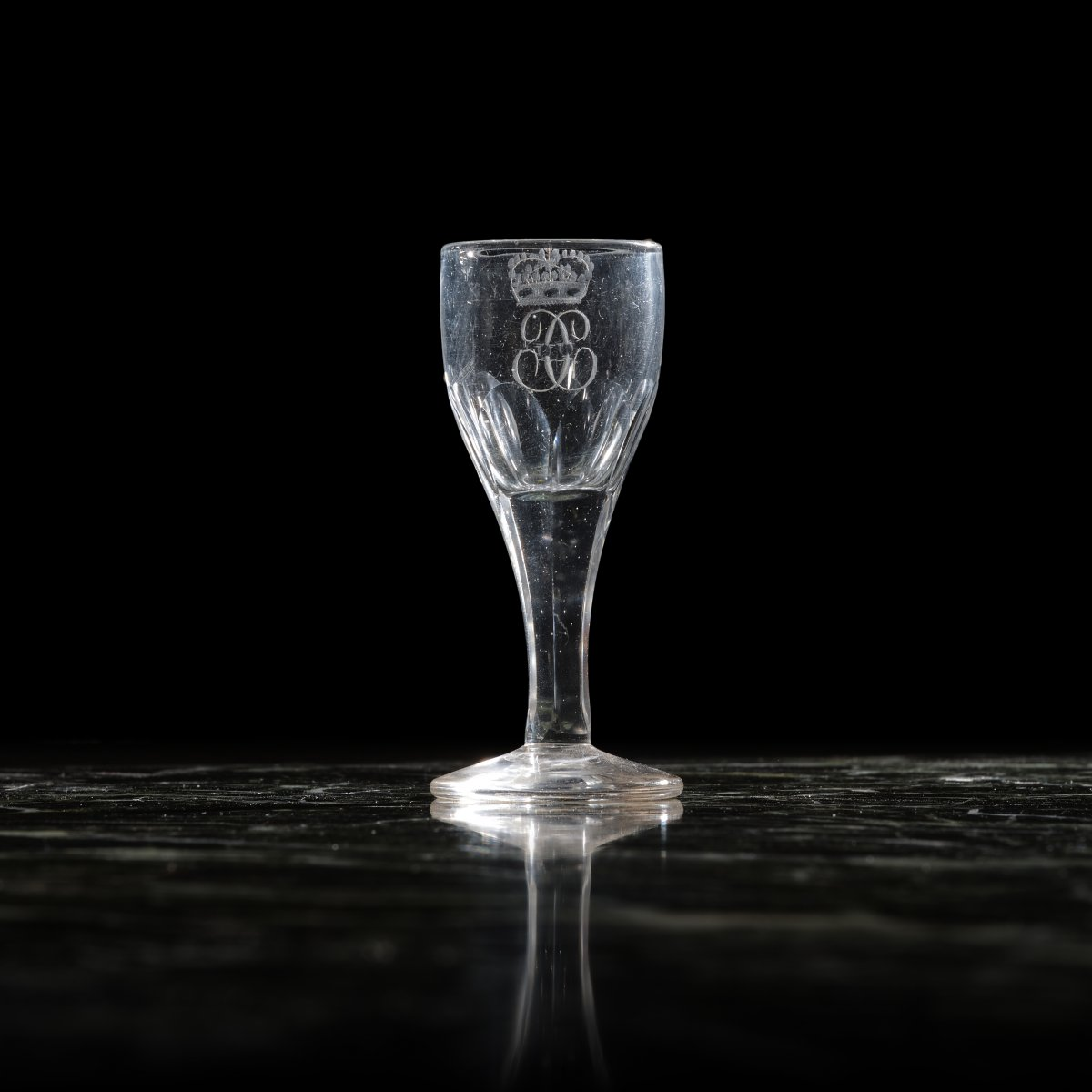 King Charles X's Table Service Engraved Crystal Liquor Glass