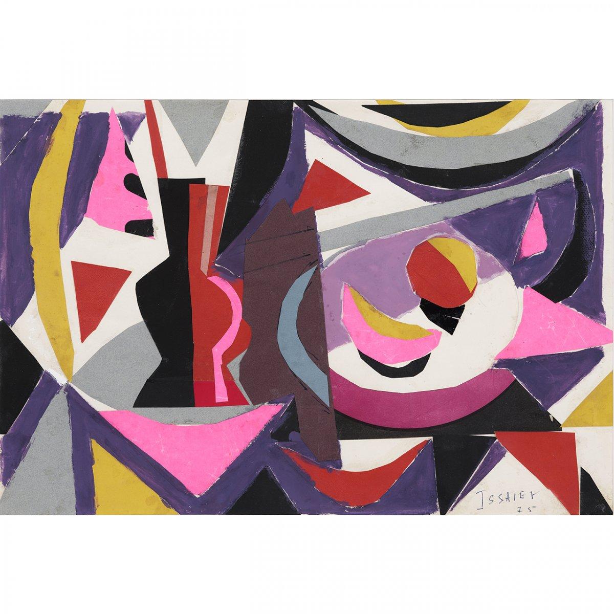 Nicolas IssaÏev (1891-1977). Collage russe. Hommage à André Lanskoy (1975)