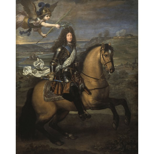 Equestrian Portrait Of Louis XIV During The Siege Of Namur, Engraving After Pierre Mignard-photo-3