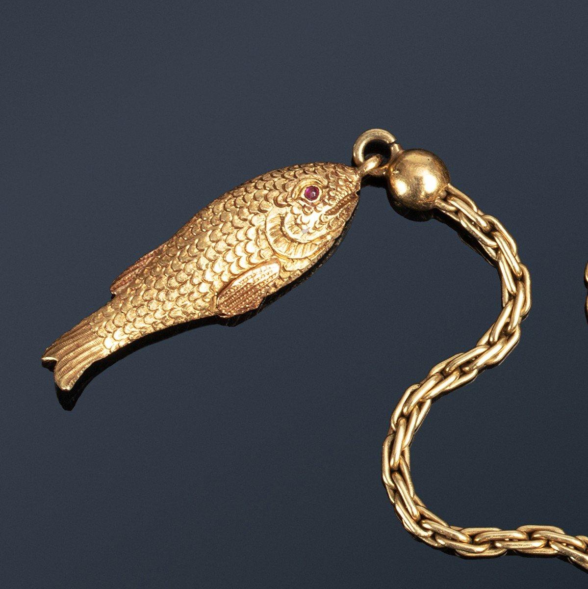Précieux Briquet à Amadou En Or, Agate Et Diamants Du XIXe Siècle