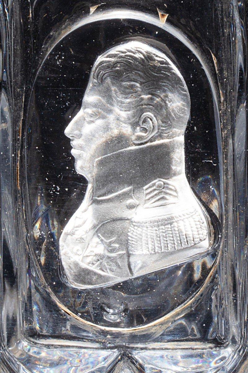Molded Crystal Beaker Ornate With A Sulphide Profile Of The Duke De Berry
