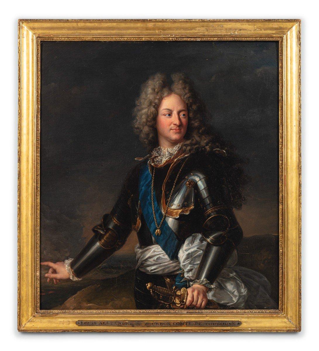 Huile Sur Toile, Portrait Du Comte De Toulouse (1678-1737), Atelier De Hyacinthe Rigaud