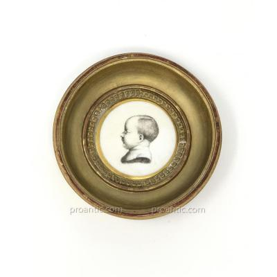 Napoleon A Paris Porcelain Medallion Representing The King Of Rome