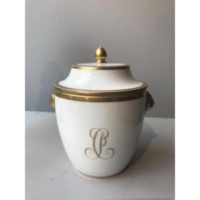 Sucrier Couvert En Porcelaine De Sèvres Empire