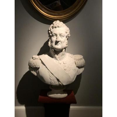 Buste En Plâtre Du Roi Louis-Philippe