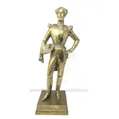 Statuette De Ferdinand Philippe d'Orléans En Bronze Doré
