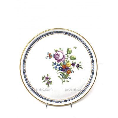 Plat rond en porcelaine du service de l'impératrice Catherine II de Russie.