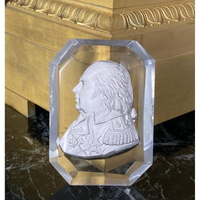 Sulphide With King Louis XVIII's Profile By Brachard