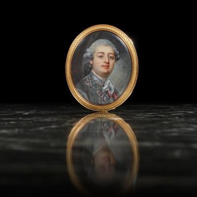 Hall Peter-Adolph (1739-1793), entourage de. Portrait du Comte de Provence.