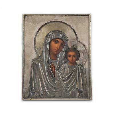 Icône De La Mère De Dieu De Kazan Offerte Par l'Impératrice Maria Féodorovna De Russie