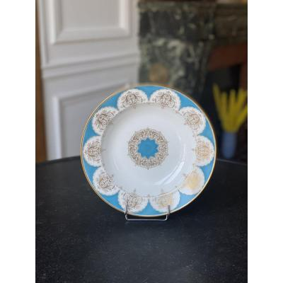 Sevres Sèvres Porcelain Soup Plate, Project For The Service Of King Louis-philippe At Bizy