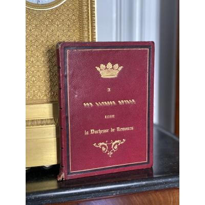 Book Dedicated To Her Royal Highness Madame La Duchesse De Nemours