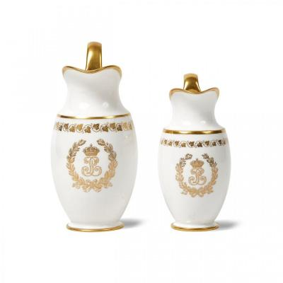 Sevres Two Sèvres Porcelain Pestum Milk Jugs From The Service Of The Princes Of King Louis-philippe