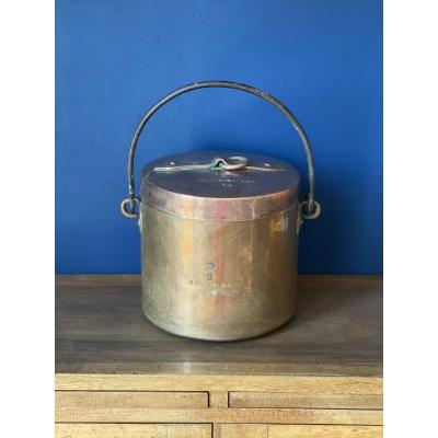 Copper Pot With Handle And Its Lid From The Château De Rambouillet