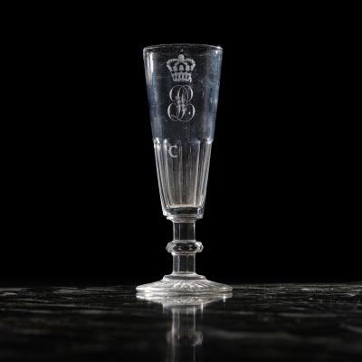 A Crystal Champagne Flute For The King Louis-philippe