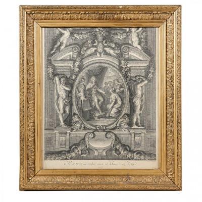 Etching Figuring Louis XIV, King Of France (1638-1715).
