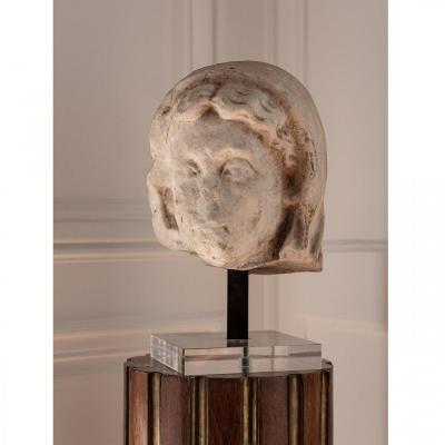 Roman Marble Head Portrait Presumed Of Livia Circa Ist Century Ad