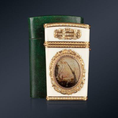 A 18th Century Ivory Gold-mounted Tablet Case, Paris, 1778-1779