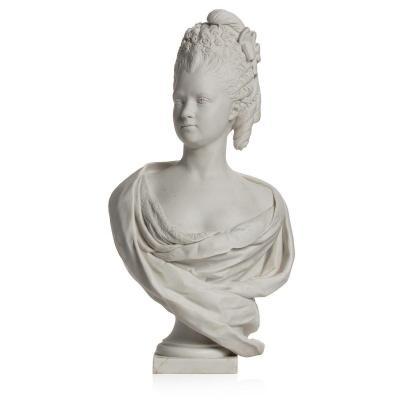Buste Royal En Biscuit De Sèvres, Portrait De Madame Clotilde De France