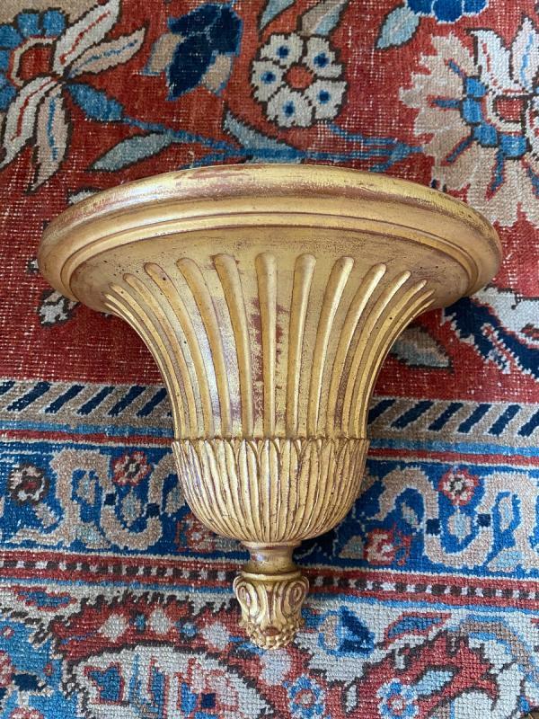 4 Consoles d'Appliques en bois doré De Style Louis XVI-photo-3