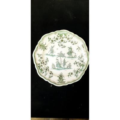 Eighteenth Moustiers Earthenware Plate Grotesque Olery