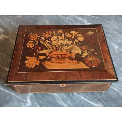 Louis XIV Period Floral Marquetry Box