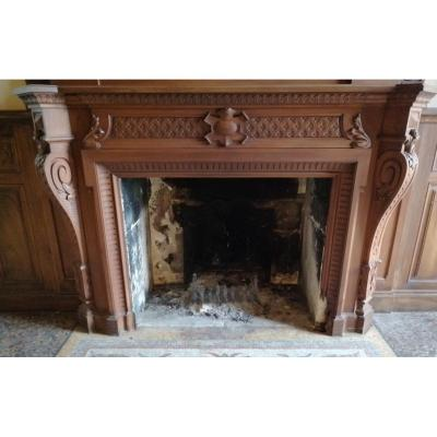 Important 19th Century Woodwork Fireplace
