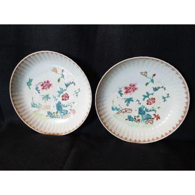 Paire De Coupes En Porcelaine De Chine XVIIIème