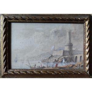 Aquarelle Att. à C. F. Lacroix De Marseille
