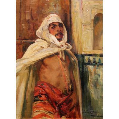 "Manuel Ruiz Guerrero (Grenade, 1864 - Madrid, 1917)  ""Caractére arabe dans l'Alhambra"""