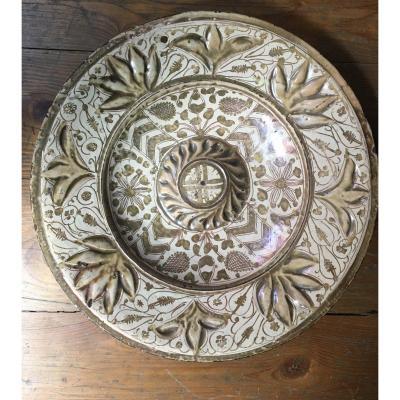 Plat en Ceramique du reflets metaliques, Manises, Espagne, Vers 1600