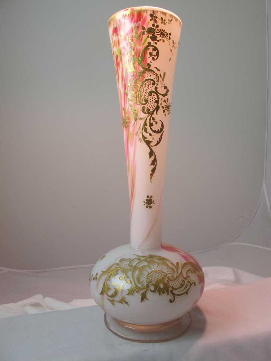 Vase De Verre XIXe-photo-4