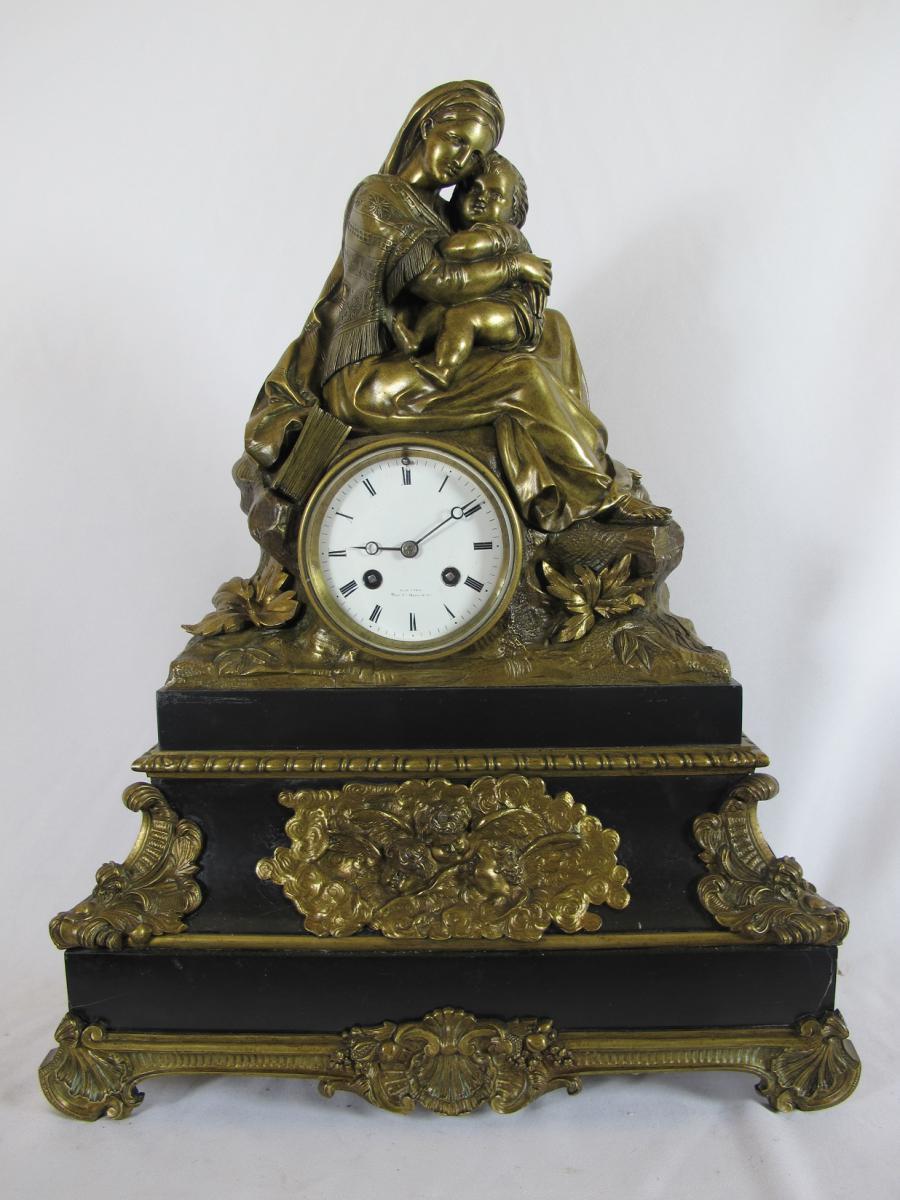 Grande Pendule Bronze Doré Charles X