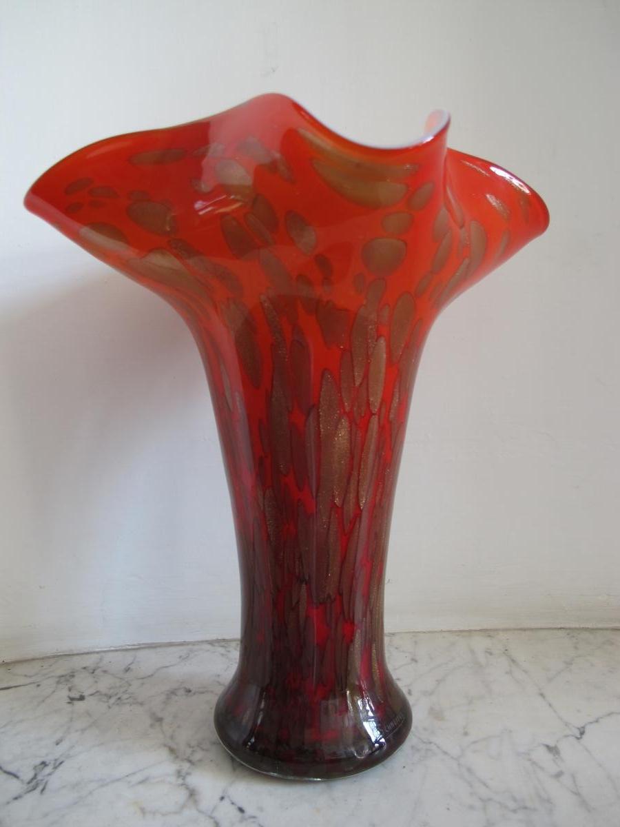 Grande Vase. Signé Schneider.