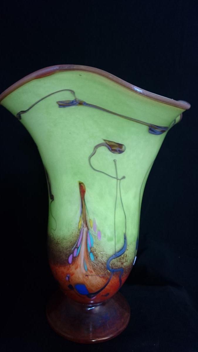 Vase Pellegrino Applique H 31 Cm.