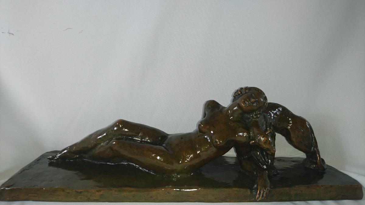 Paul Silvestre (1884-1976) Signé Et Susse Freres. Cire Perdue. L. 45 Cm.