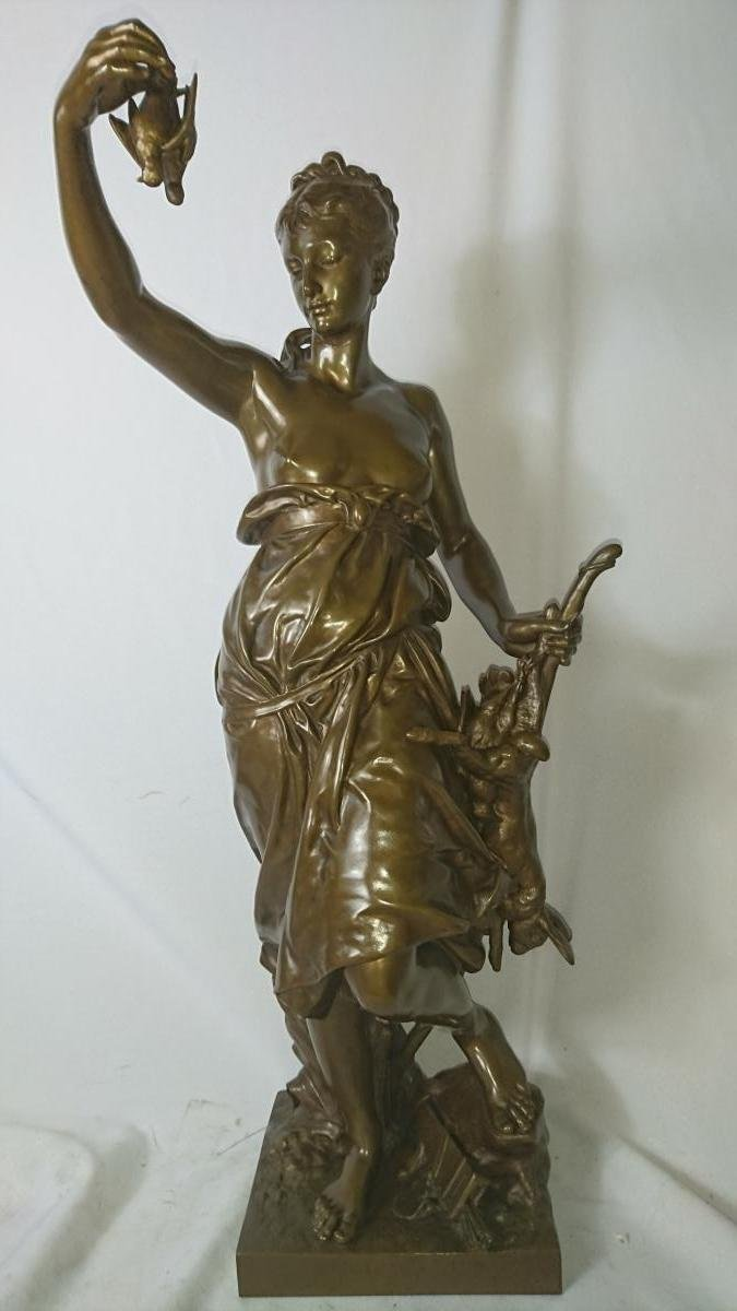 Bronze Louis Ernest Barrias (1841-1905). H. 58 Cm